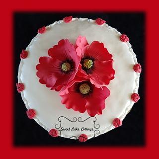Poppy - Cake by Sweet Cake Cottage