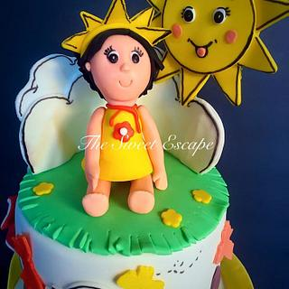 Sunshine Themed Cake - Cake by The Sweet Escape
