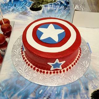 Captain America Shield - Cake by Dawn Henderson