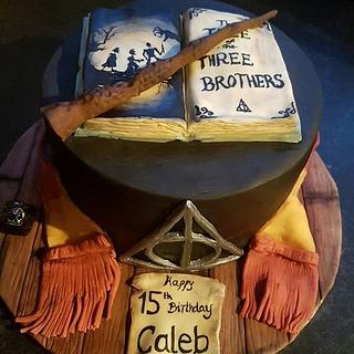 Harry Potter deathly hallows cake