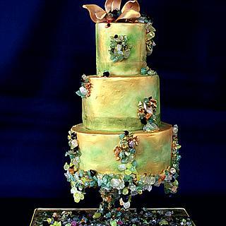 """""""Argonita"""" wedding cake - Cake by NadiaPedrazaMartinez"""