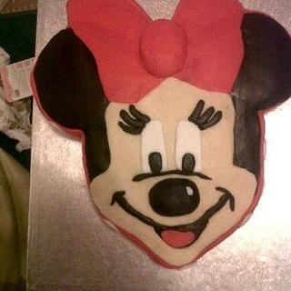Minnie Mouse Cake - Cake by Mary Anne Gardner