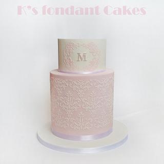Vintage Christening Cake
