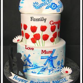 Dutch themed Cake