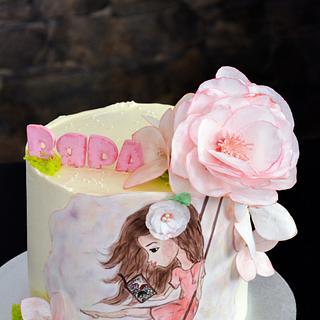 Hand painted girl's cake :)