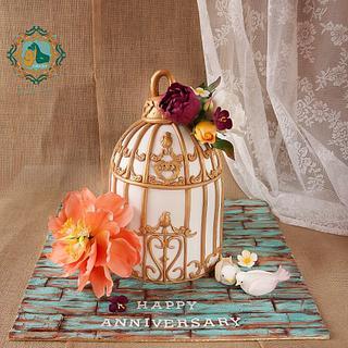 Bird'cage cake