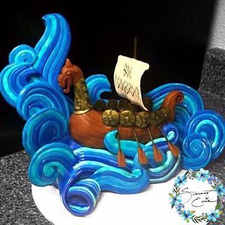 Viking cake topper