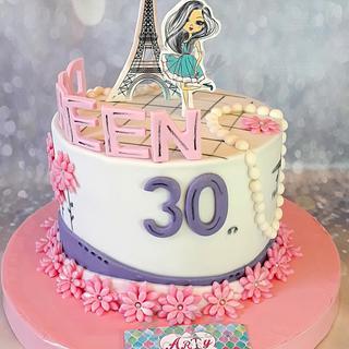 Paris cake by Arty cakes
