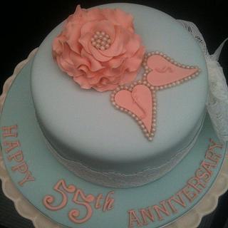 Vintage style anniversary cake - Cake by Swirly sweet