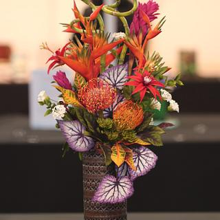 Fireworks in Sugarflowers- 1st place gold Cake International