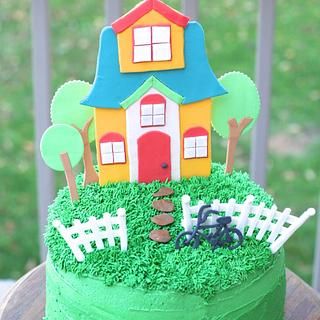 Whimsical Housewarming Cake