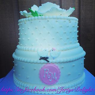 Wedding cake - Cake by Jertysdelight