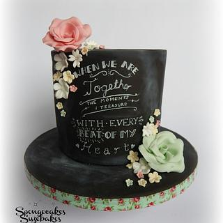 Chalkboard Anniversary Cake