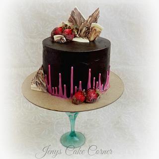 Inverted Drips.... - Cake by Jeny John