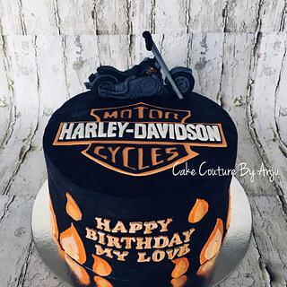 Harley Davidson Bike Cake