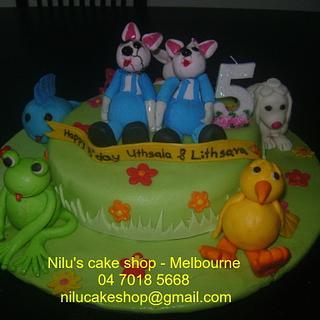 Lovely 3D Animals Cake