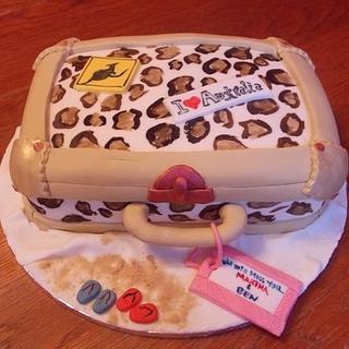 Luggage celebrations cake