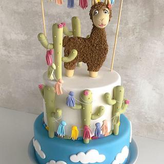 Llama Fondant Cake