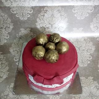 Christmas baubles cake