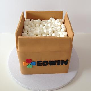 Cardbox Cake - Cake by funni