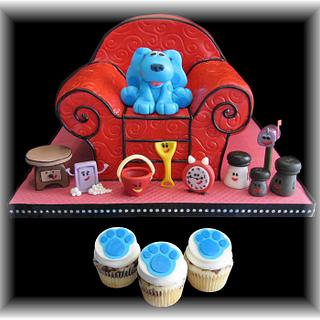 Blues Clues Cake - Cake by Geelicious Confections