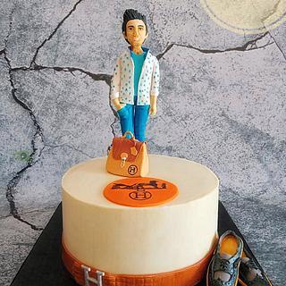 Hermes theme cake