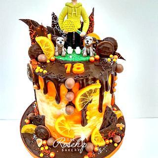 Jaffa Cake Drip cake