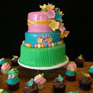 Hawaiian Luau Cake