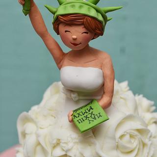 Statue of Liberty Bridal shower cake - Cake by Sahar Latheef