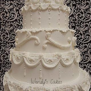 Butter Cream Lambeth Wedding Cake