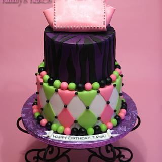 Funky Bday - Cake by Kimmy's Kakes