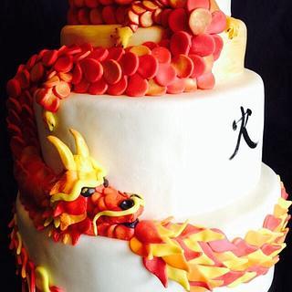 Fire - Cake by Stephanie Shaw