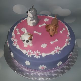 Dogs cake.