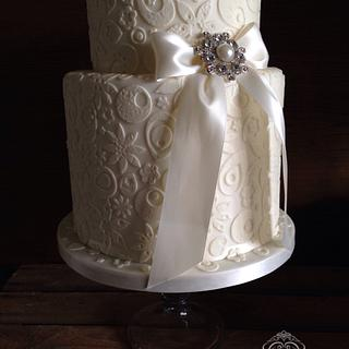 Elegant lace - Cake by Cupcake Delight
