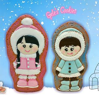 Cute eskimo cookies