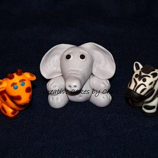 Hand Sculpted Fondant Animals