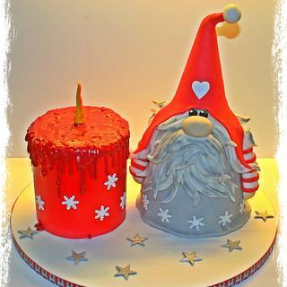 Xmas Gnome cake