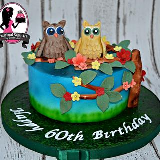 Cutie Owls cake