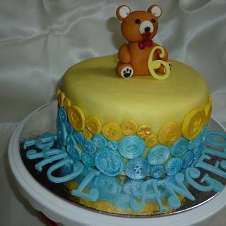 Teddy Bear Button Cake - Cake by Cherie Permalino