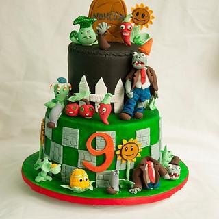 Plants vs zombies 2 cake