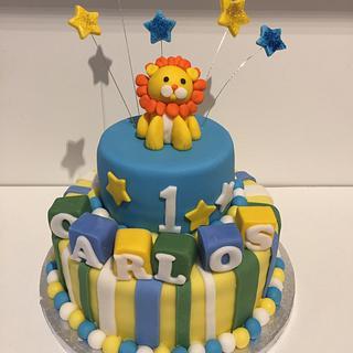 Lion baby cake