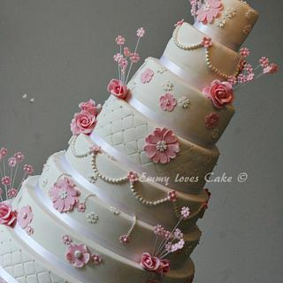old communion cake for a girl