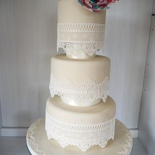 Darcey Blocked Wedding Cake