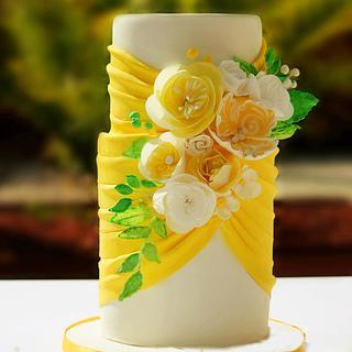 Lemon Yellow Wed Cake!!