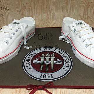 Low top converse sneaker cake