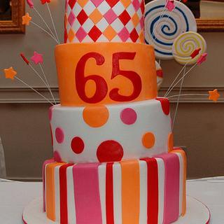 65th Anniversary Cake