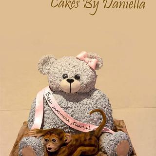 teddy bear and little monkey
