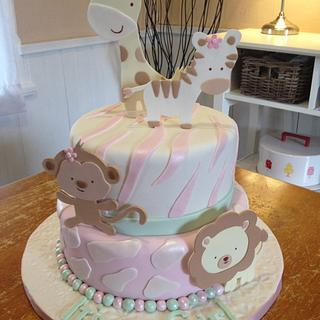 Safari Baby Shower Cake - Cake by Emily Foley