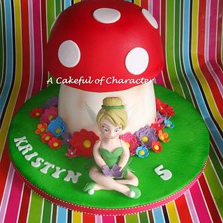 Tinkerbell Toadstool with fondant Tinkerbell
