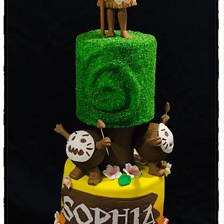 Moana! - Cake by Rhona